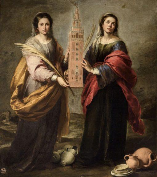 Saints Justa and Rufina | BartolomE Esteban Murillo | Oil Painting