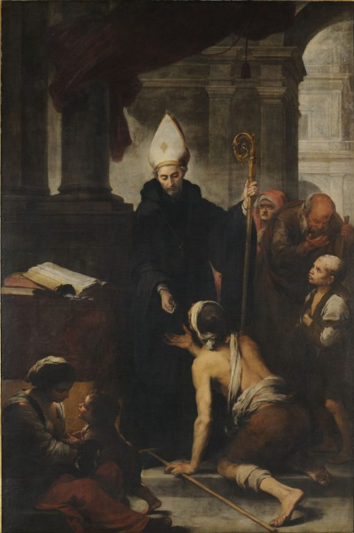 Santo Tomas de Villanueva dando limosnas | BartolomE Esteban Murillo | Oil Painting