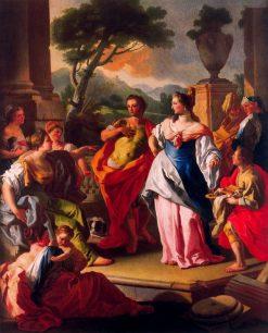Aquiles con las hijas de Licomedes   Francesco de Mura   Oil Painting