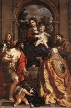Madonna and Saints   Pietro da Cortona   Oil Painting