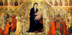 Maesta del Duomo di Siena (central panel: Madonna with Angels and Saints) | Duccio di Buoninsegna | Oil Painting