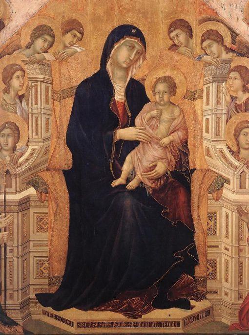 Maesta (central panel: Madonna and Child) | Duccio di Buoninsegna | Oil Painting