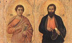 Maesta (detail: top panels) | Duccio di Buoninsegna | Oil Painting