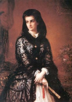 Marie Sophia of Bavaria and Queen of Naples | August Riedel | Oil Painting