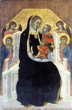 Virgin Enthroned with the Child and Four Angels | Pietro Lorenzetti | Oil Painting
