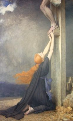 The Sorrows of Mary Magdalene | Jules Joseph Lefebvre | Oil Painting
