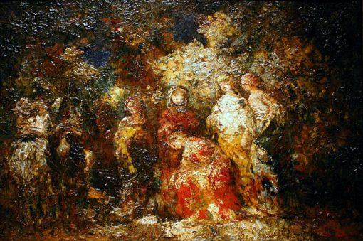 La Reverence | Adolphe Joseph Thomas Monticelli | Oil Painting