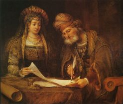 Mardochai Writing the First Purim Letter | Aert de Gelder | Oil Painting