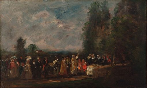 Landscape with Figures   Charles Francois Daubigny   Oil Painting