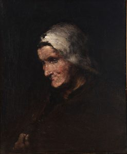 Portrait of an Elderly Woman | Charles Francois Daubigny | Oil Painting
