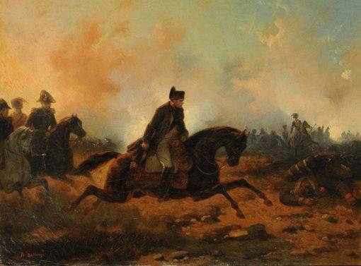 Napoléon Embarking at Waterloo | Joseph Louis Hippolyte BellangE | Oil Painting