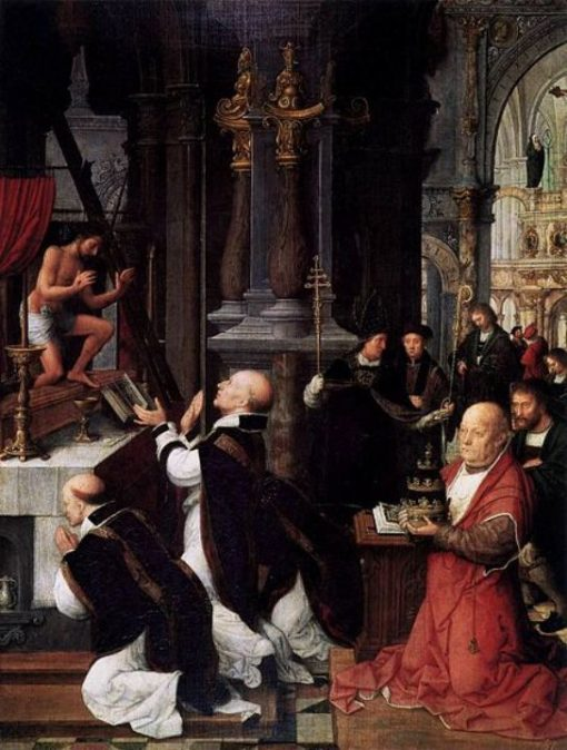 The Mass of Saint Gregory   Adriaen Isenbrandt   Oil Painting