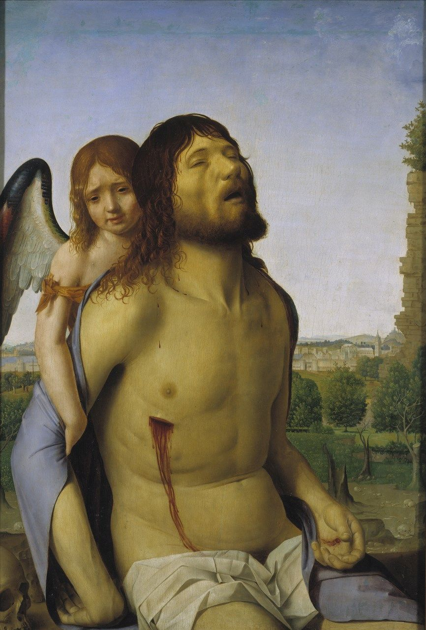 The Dead Christ Supported by an Angel | Antonello da Messina | Oil Painting