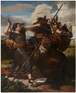 La heroi?na de Peralada | Antonio Caba y Casmitjana | Oil Painting