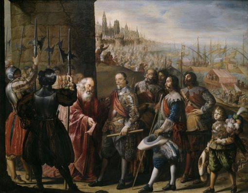 The Relief of Genoa by the Second Marquis of Santa Cruz   Antonio de Pereda   Oil Painting