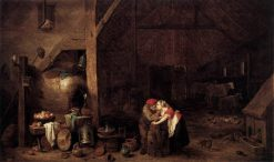 The Old Man and the Maid | David Teniers II | Oil Painting