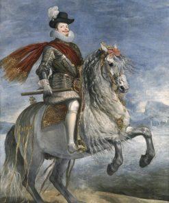 Felipe III on Horseback | Diego Velazquez | Oil Painting