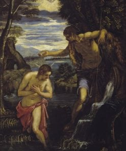 The Baptism of Christ | Domenico Tintoretto | Oil Painting