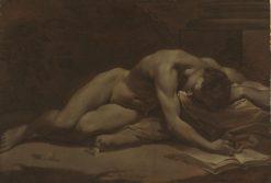 Male Nude   Donato Creti   Oil Painting