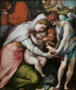 The Holy Family with a Parrot | Francesco Salviati | Oil Painting