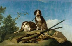 Two Dogs on a Leash | Francisco de Goya y Lucientes | Oil Painting