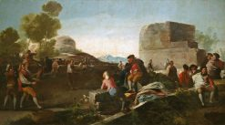 The Game of Paddle Ball | Francisco de Goya y Lucientes | Oil Painting