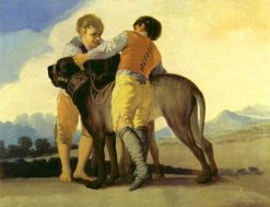Boys with a mastiff | Francisco de Goya y Lucientes | Oil Painting