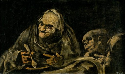 Two Old People Eating   Francisco de Goya y Lucientes   Oil Painting