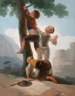 Boys Climbing a Tree | Francisco de Goya y Lucientes | Oil Painting