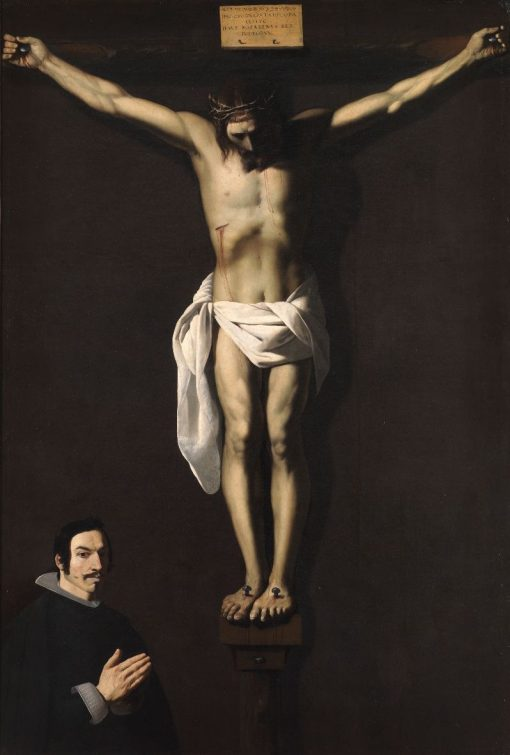 Christ Crucified with Donor | Francisco de Zurbaran | Oil Painting