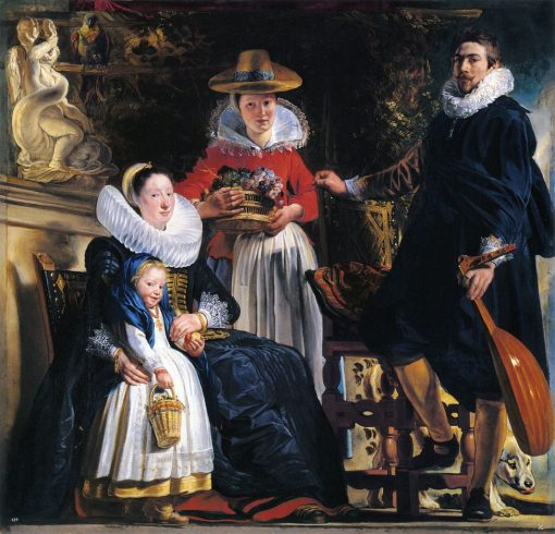 The Family of the Artist(also known as Self Portrait with Wife and Daughter) | Jacob Jordaens | Oil Painting