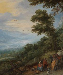 Gypsy Gathering in a Wood | Jan Brueghel the Elder | Oil Painting