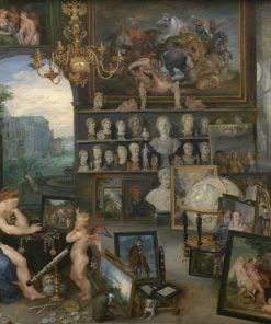 Allegory of Sight   Jan Brueghel the Elder   Oil Painting