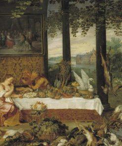 Allegory of Taste   Jan Brueghel the Elder   Oil Painting