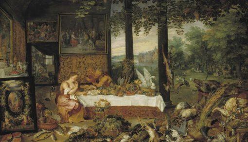 Allegory of Taste | Jan Brueghel the Elder | Oil Painting