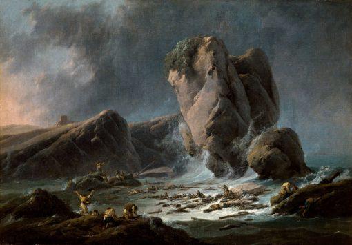 Shipwreck Survivors reaching the Coast | Jean Pillement | Oil Painting
