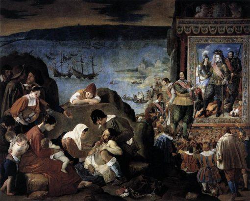 The Recapture of Bahia in 1625   Juan Bautista Maino   Oil Painting