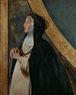 Santa Catalina de Siena (Saint Catherine of Siena) | Juan Bautista Maino | Oil Painting