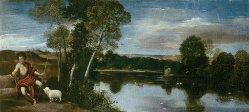 Landscape with Saint John the Baptist | Juan Bautista Maino | Oil Painting