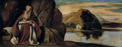 Saint Anthony Abad in a Landscape | Juan Bautista Maino | Oil Painting