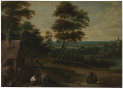 Villagers' Lunch | Lucas van Uden | Oil Painting