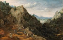 Landscape with Ironworks | Lucas van Valckenborch | Oil Painting