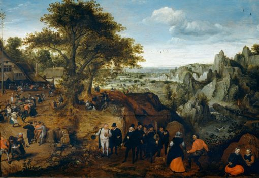 Kermesse in a Rocky Landscape | Lucas van Valckenborch | Oil Painting