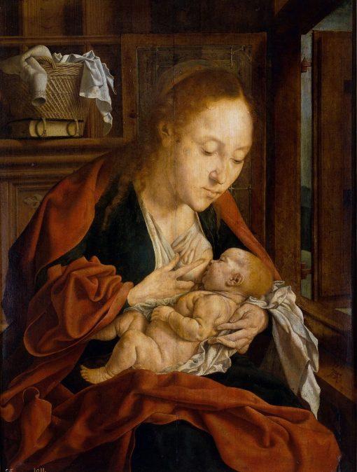 The Virgin of the Milk   Marinus van Reymerswaele   Oil Painting