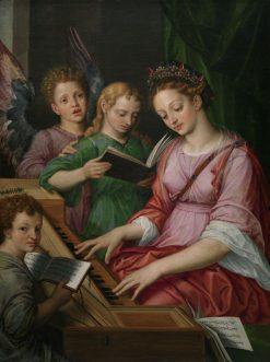 Saint Cecilia | Michiel Coxie | Oil Painting