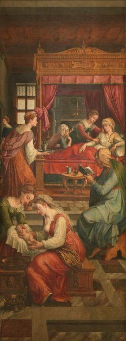 The Birth of the Virgin | Michiel Coxie | Oil Painting
