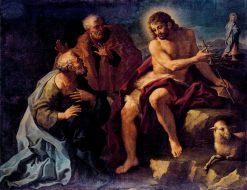 San Juan Bautista como precursor (Saint John the Baptist with Saints) | Paolo de' Matteis | Oil Painting
