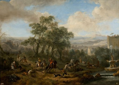 Hare Hunting | Philips Wouwerman | Oil Painting