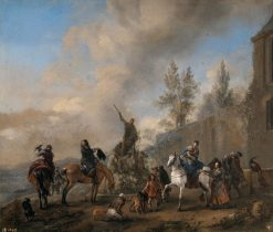 Falconry Party | Philips Wouwerman | Oil Painting