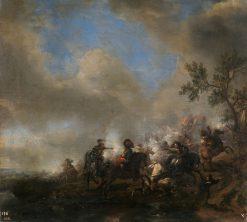 Cavalry in Combat | Philips Wouwerman | Oil Painting